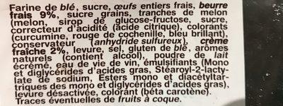 La Brioche des Rois - Ingrediënten - fr