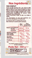 Le Pain Italien Complet - Ingrediënten - fr