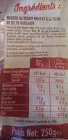La brioche beurre frais - Voedingswaarden - fr