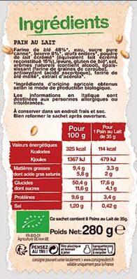 8 Pains au Lait - Ingredients
