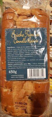 Brioche tranchée cannelle raisins - Product - fr