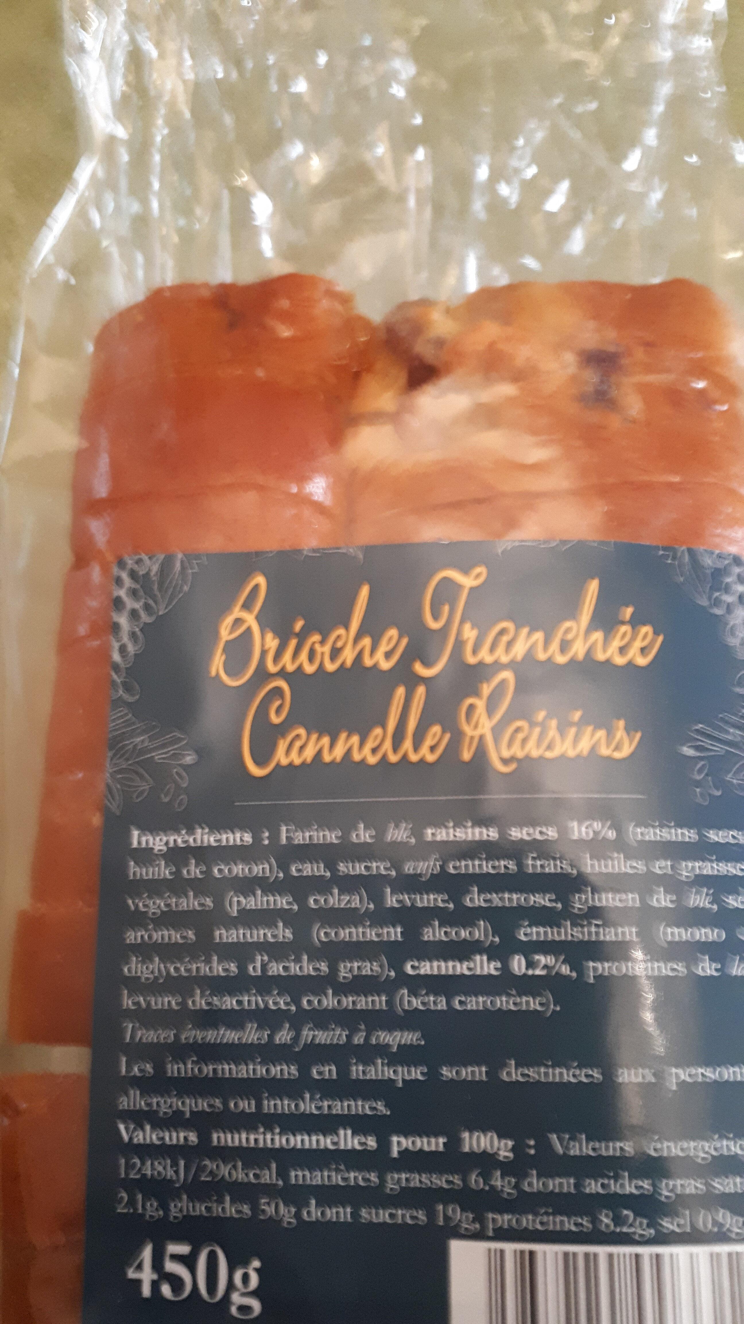 Brioche tranchée cannelle raisins - Ingrediënten - fr