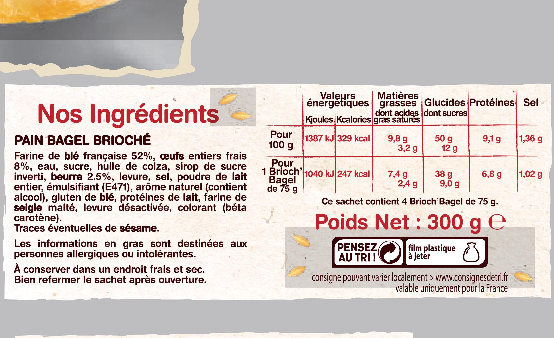 Brioch'bagel - Ingrediënten - fr