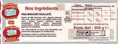4 Brioch' Feuilletés - Ingrediënten - fr