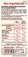 Les gaufres liegeoises - Ingrediënten - fr