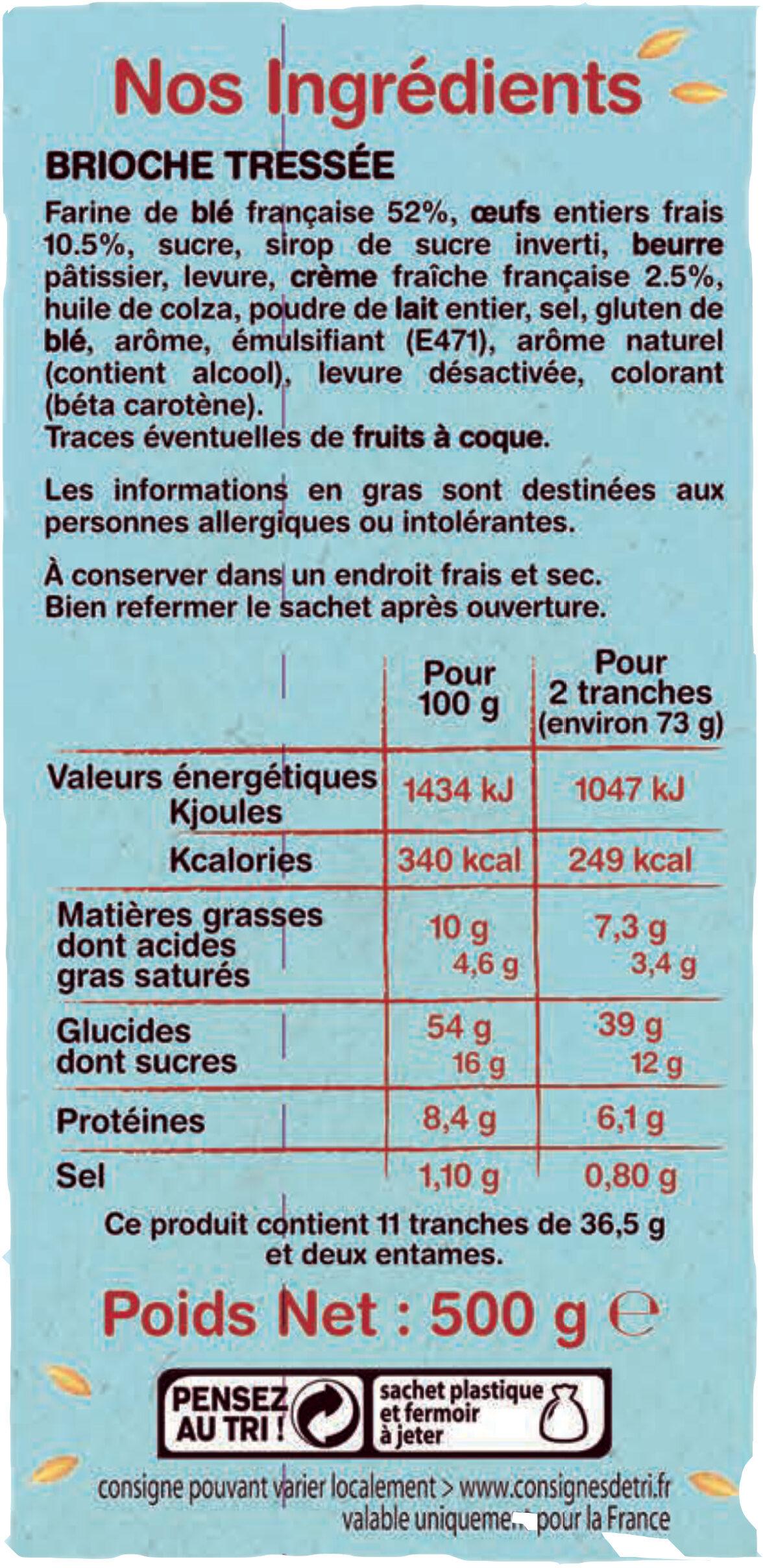 La brioche tressée tranchée - Ingrediënten - fr
