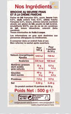 La Gâche - Ingredients - fr