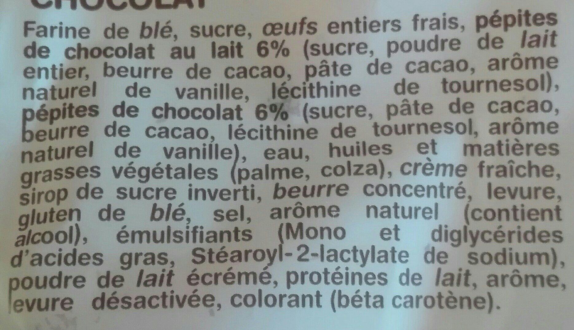 La Gache Tranchée - Ingredients