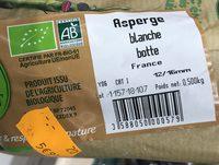 L'asperge Bio - Ingrediënten