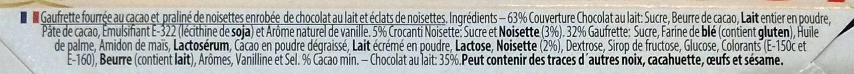 Bûchettes Biscuit Praliné - Ingrédients - fr