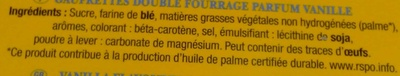 La Véritable Gaufrette amusante Parfum Vanille - Ingrediënten