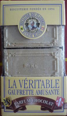 Biscuiterie Eugène Blond - La véritable gaufrette amusante parfum chocolat - Product - fr