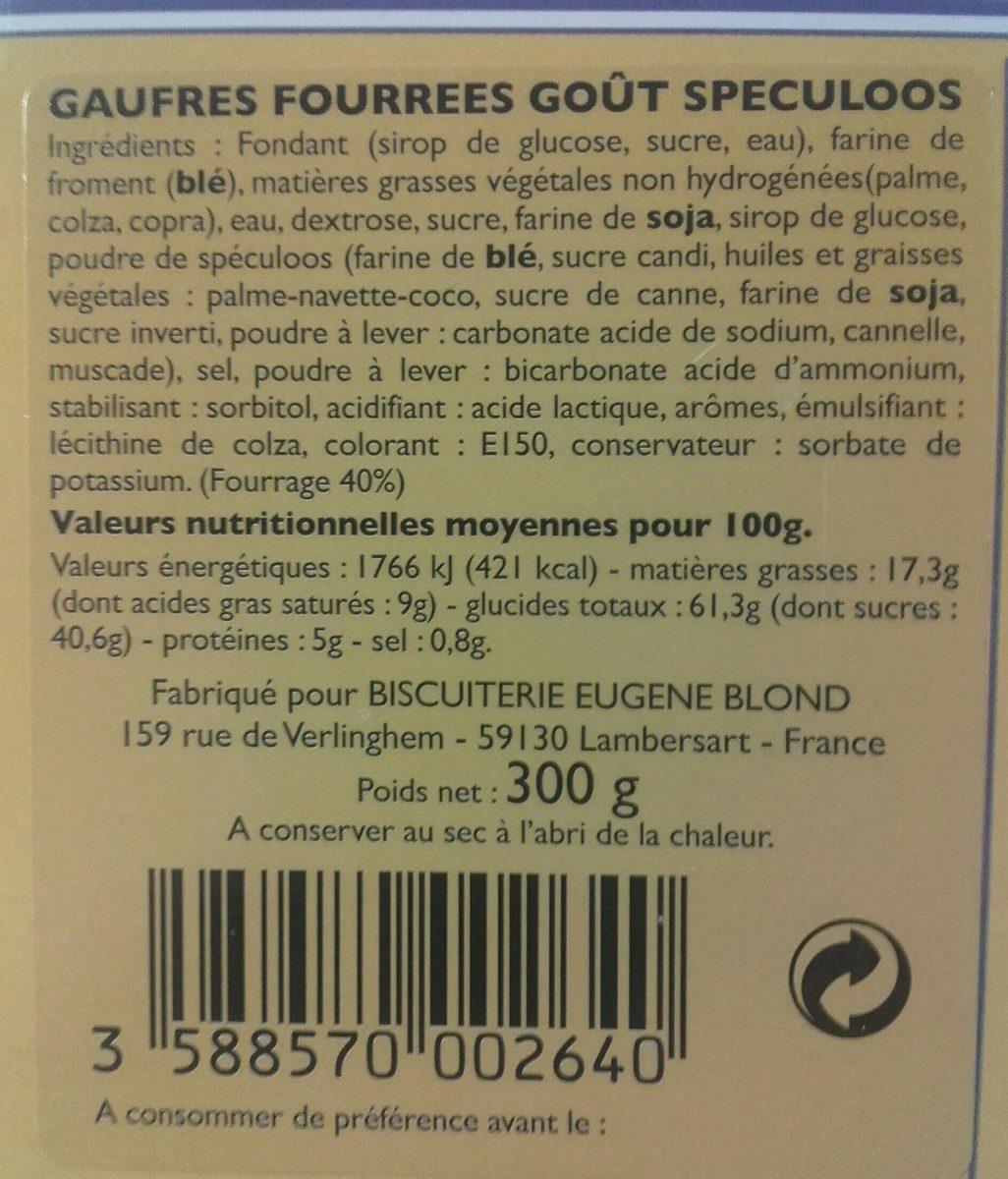 Gaufres Fourrées au Speculoos - Product