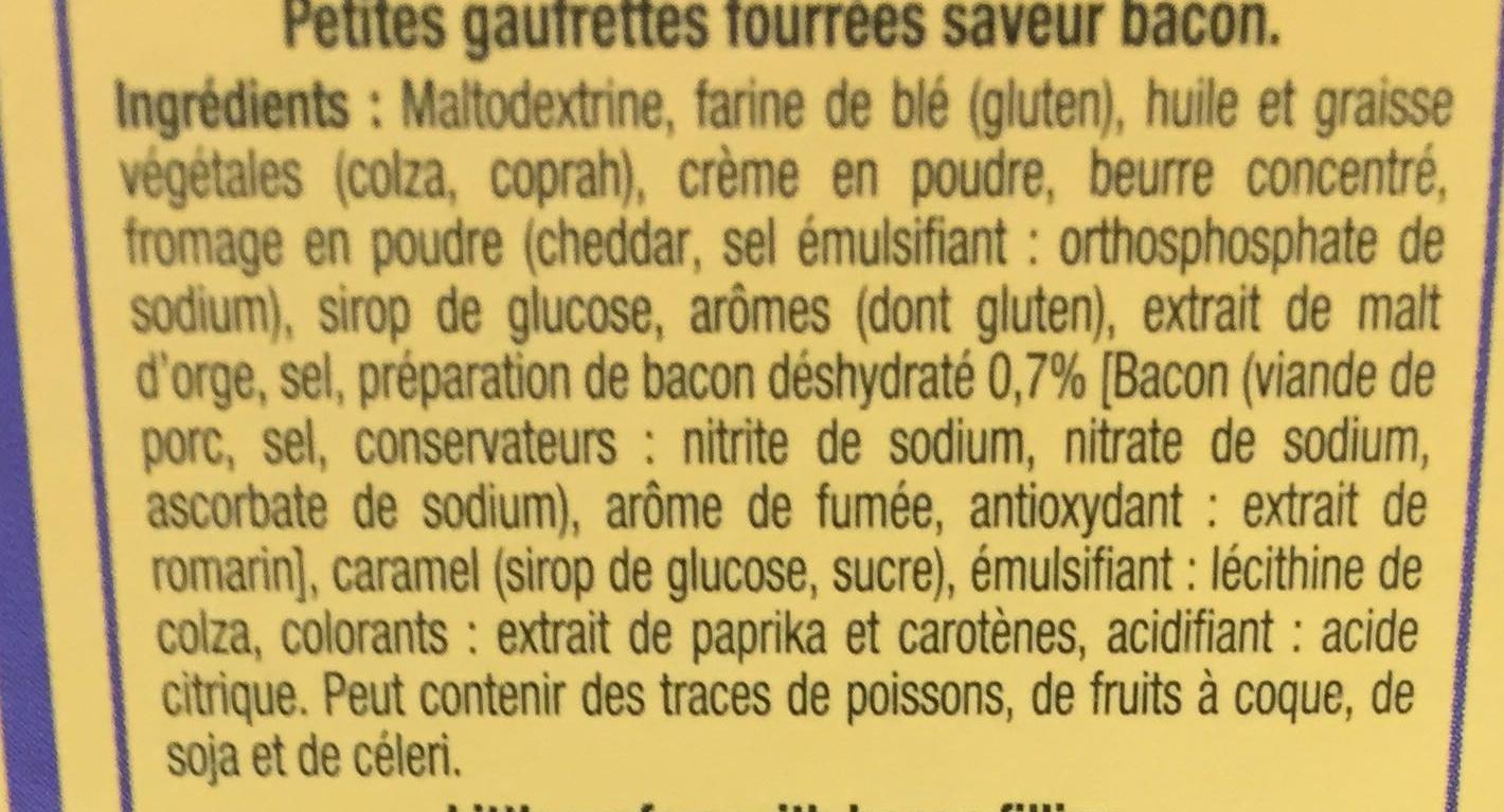 Les Apérigaufres fourrées saveur Bacon - Ingrédients