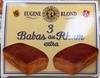3 Babas au Rhum extra - Product