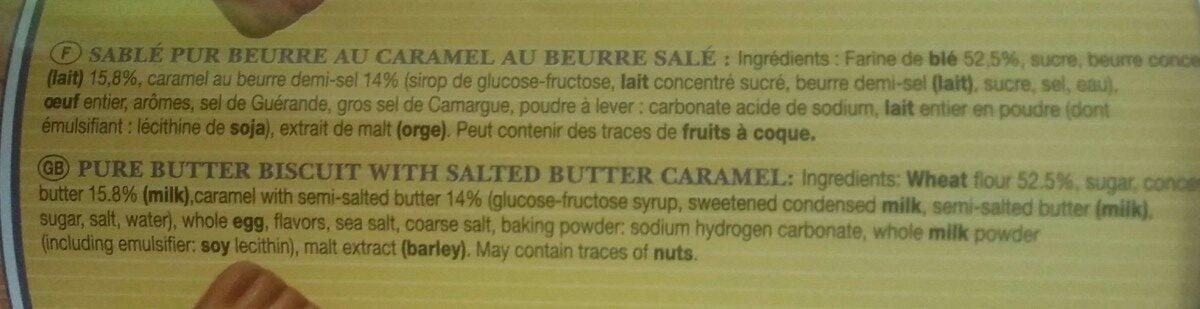 Sablés pur beurre au caramel beurre salé - Ingrédients - fr