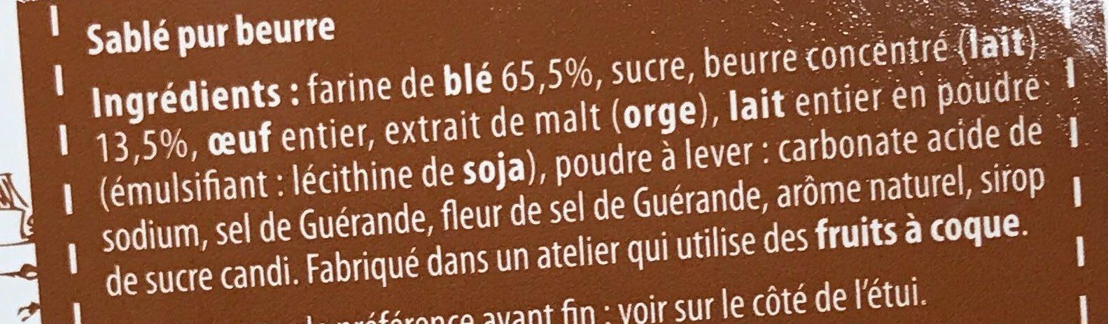 Sablé de France Pur Beurre - Ingrediënten - fr