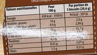 Sablé de France Pur Beurre - Voedingswaarden - fr