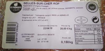 Selles-sur-Cher AOP - Ingrédients - fr