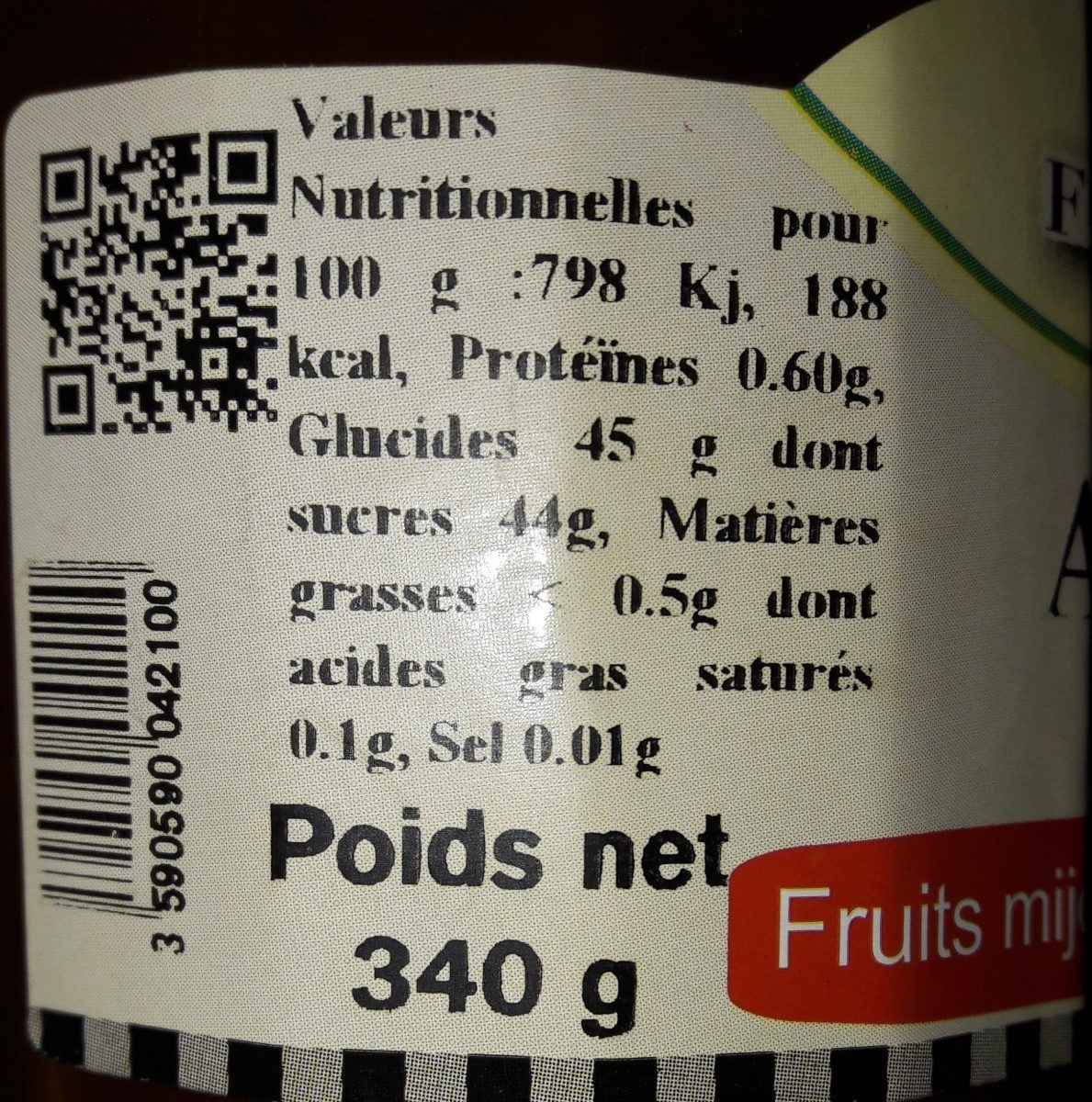 Confiture abricot - Ingrediënten
