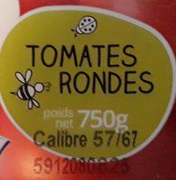 Tomates rondes - Ingrédients
