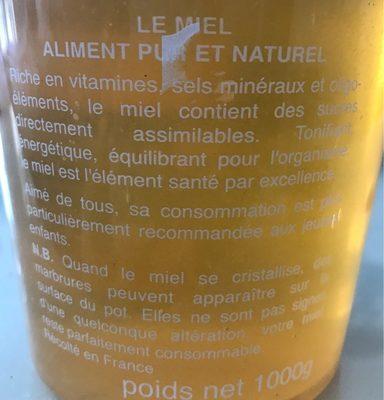 Miel du jura selectionné - Ingrédients - fr