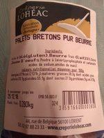 Palet breton pure beurre - Produit