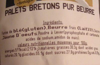 Palet breton pure beurre - Ingrédients