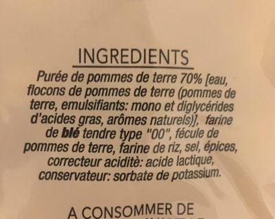 Gnocchis pomme de terre - Ingredients