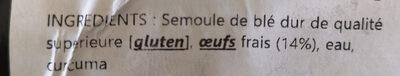 Pates fraiches - Ingredienti - fr