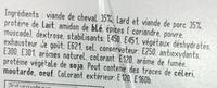 Chevalin - Ingrediënten - fr