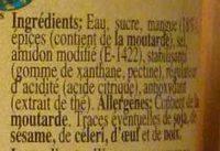 Sauce à la Mangue - Ingrédients - fr