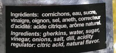 Cornichons polonais à l'aigre-douce - Ingredients - fr