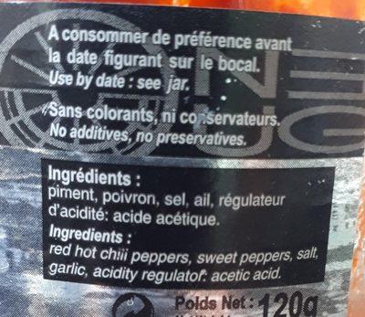 Harissa - Ingredients
