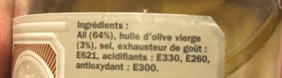 Ail doux - Ingrediënten - fr
