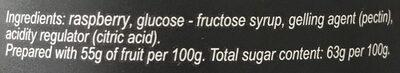 Confiture de framboise - Ingredients