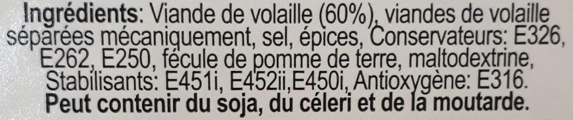 Kabanos apéro - Ingrédients - fr