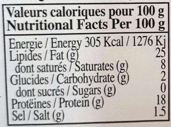 Kabanos apéro - Informations nutritionnelles - fr