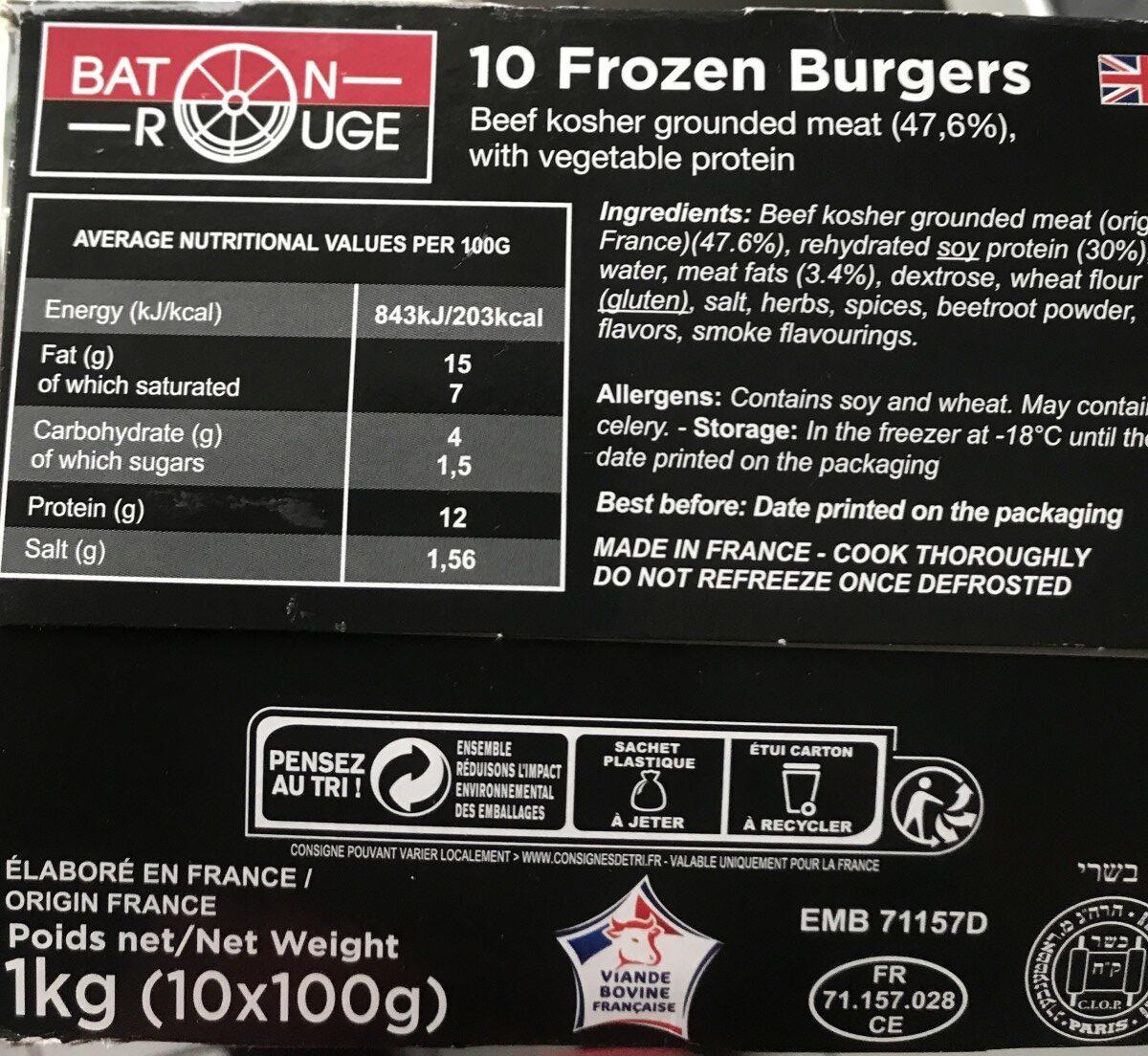 Baton rouge burger surgeles - Ingrediënten - fr