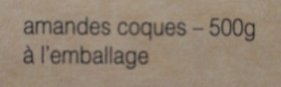 Amandes de Provence - Ingredients - fr