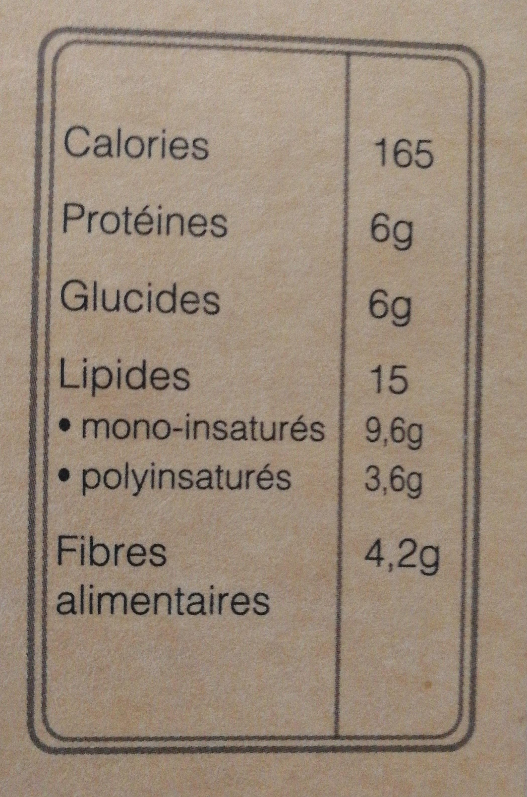 Amandes de Provence - Nutrition facts - fr