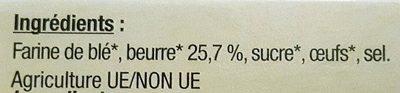 Les broyés du Poitou bio - Ingrédients
