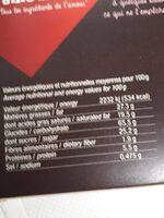 Les broyés gourmands du Poitou - Nature - Nutrition facts - fr