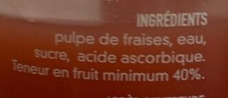 Nectar de fraise - Ingredients
