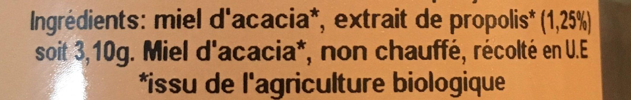 Préparation à base de miel d'Acacia et propolis - Ingredients
