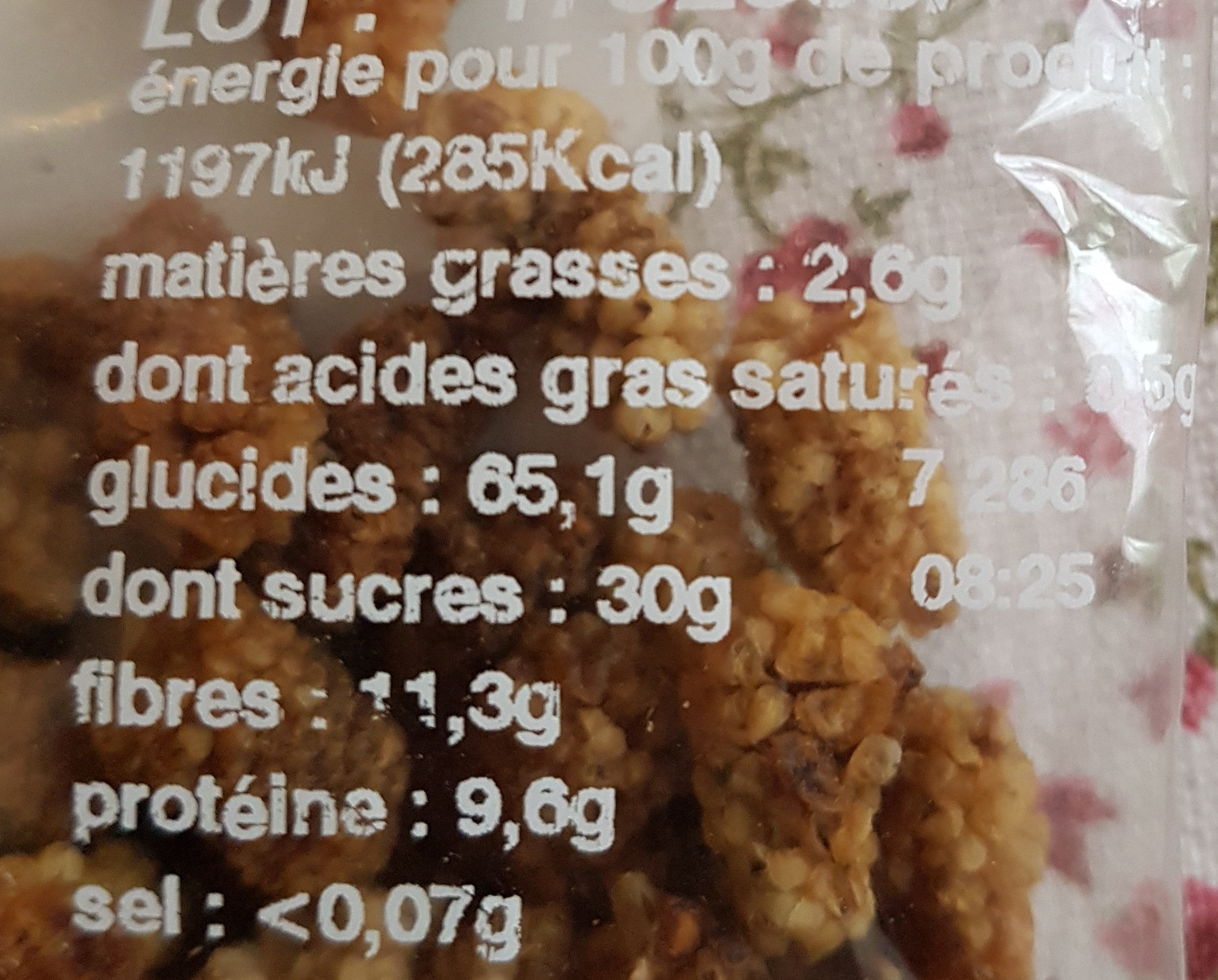 Mûres blanches - Nutrition facts - fr