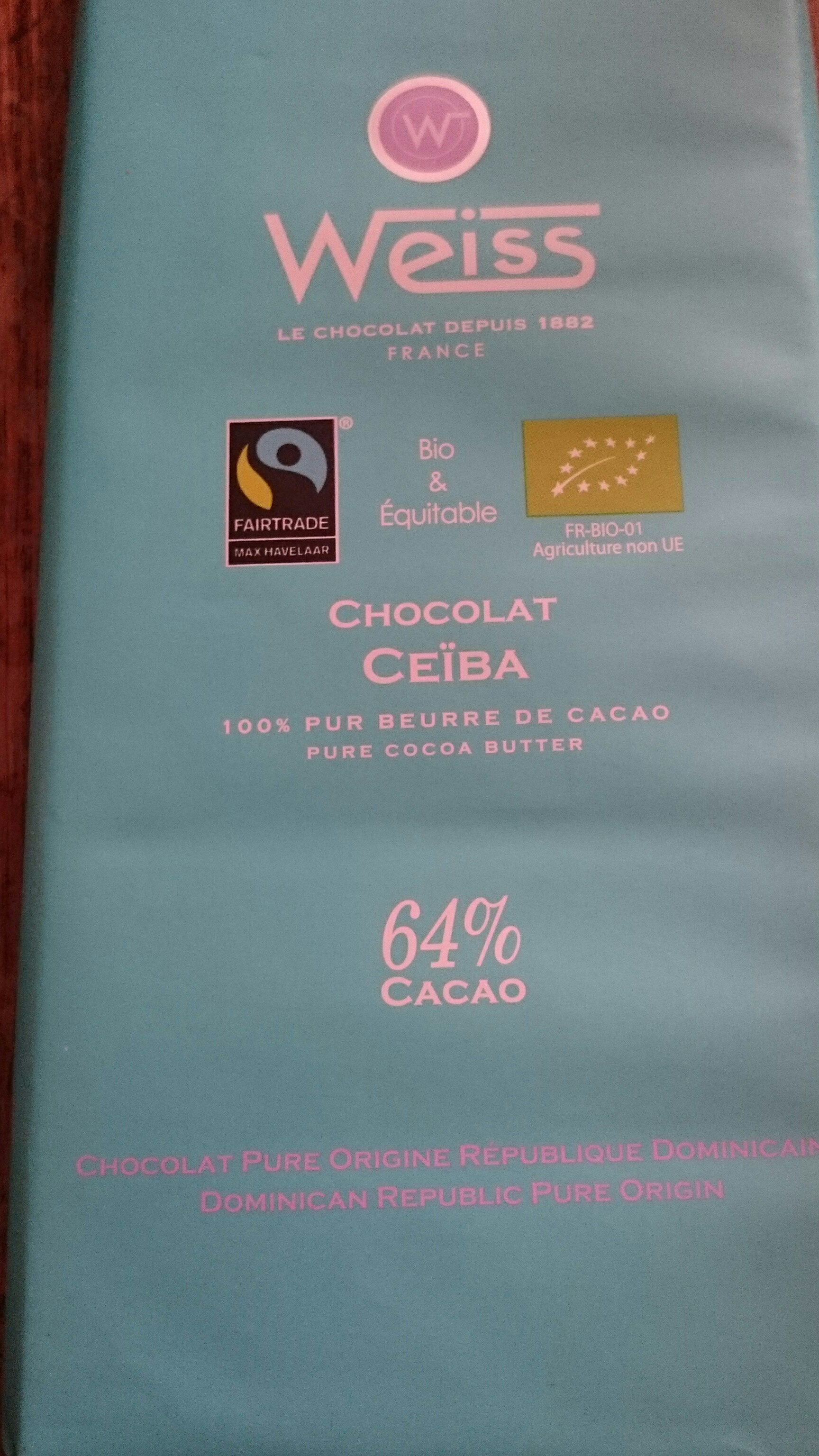 Tablette Chocolat Noir - Ceiba - Produit - fr