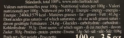 Tablette Chocolat Noir Ceiba - Nutrition facts