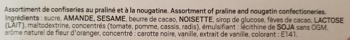 Masterpiece nougamandine - Ingredients