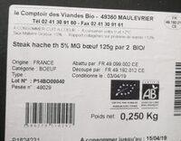Steack Hache - Ingredients